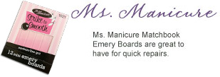 Ms. Manicure Matchbook emery board nail file